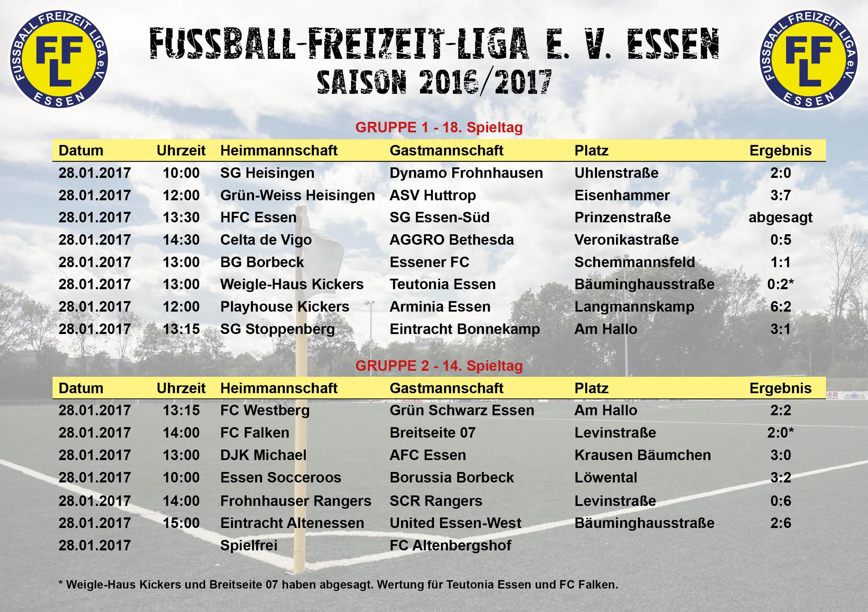 Fußball Freizeit Liga E V Essen Zusammenfassung Spiele Am